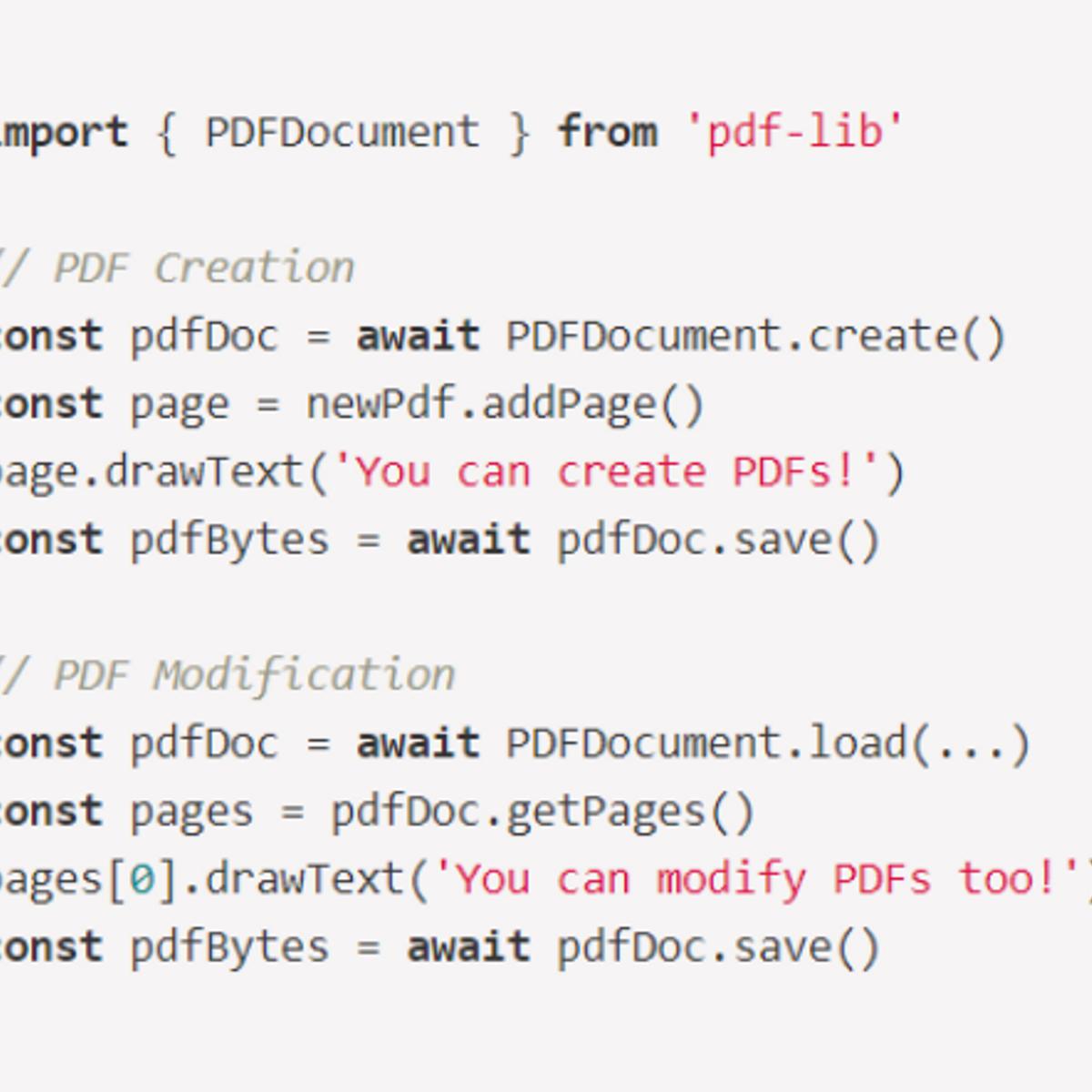 PDF-LIB Alternatives and Similar Software - AlternativeTo net