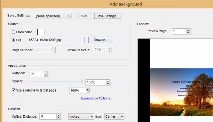 how to add background music to pdf