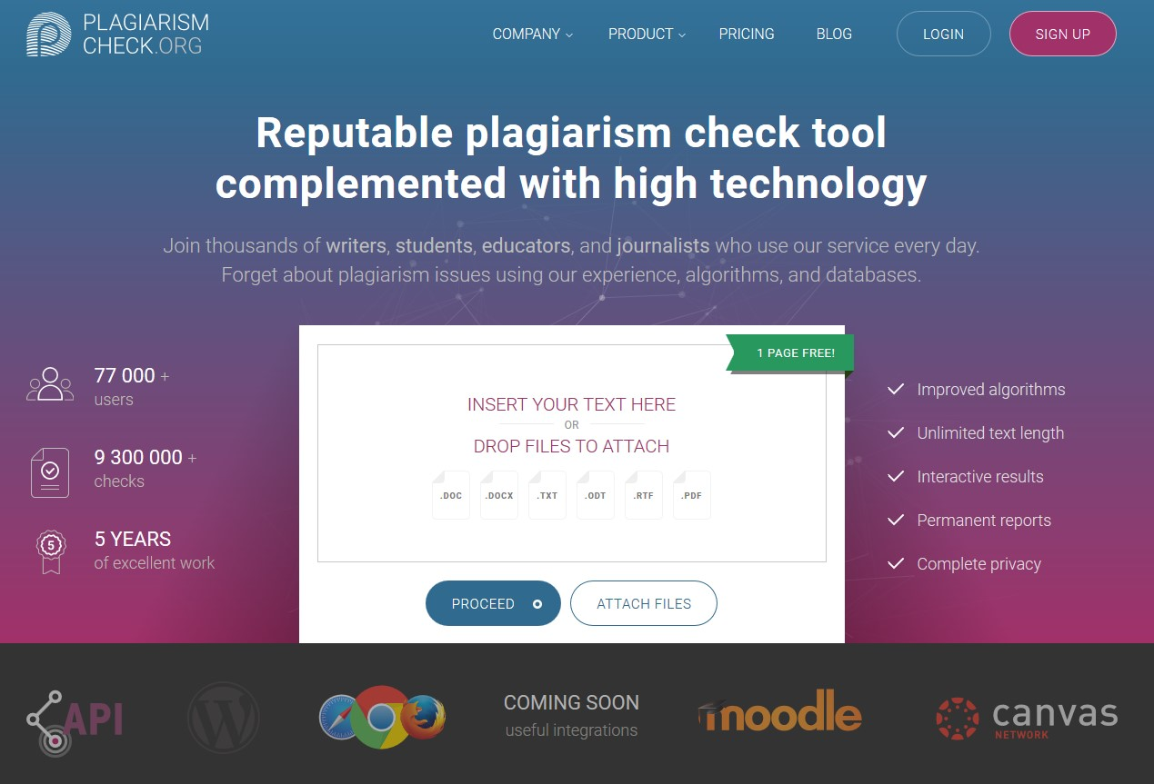plagiarismcheck alternatives and similar websites and apps there is a history of all activites on plagiarismcheck in our activity log it s possible to update the information on plagiarismcheck or report it as