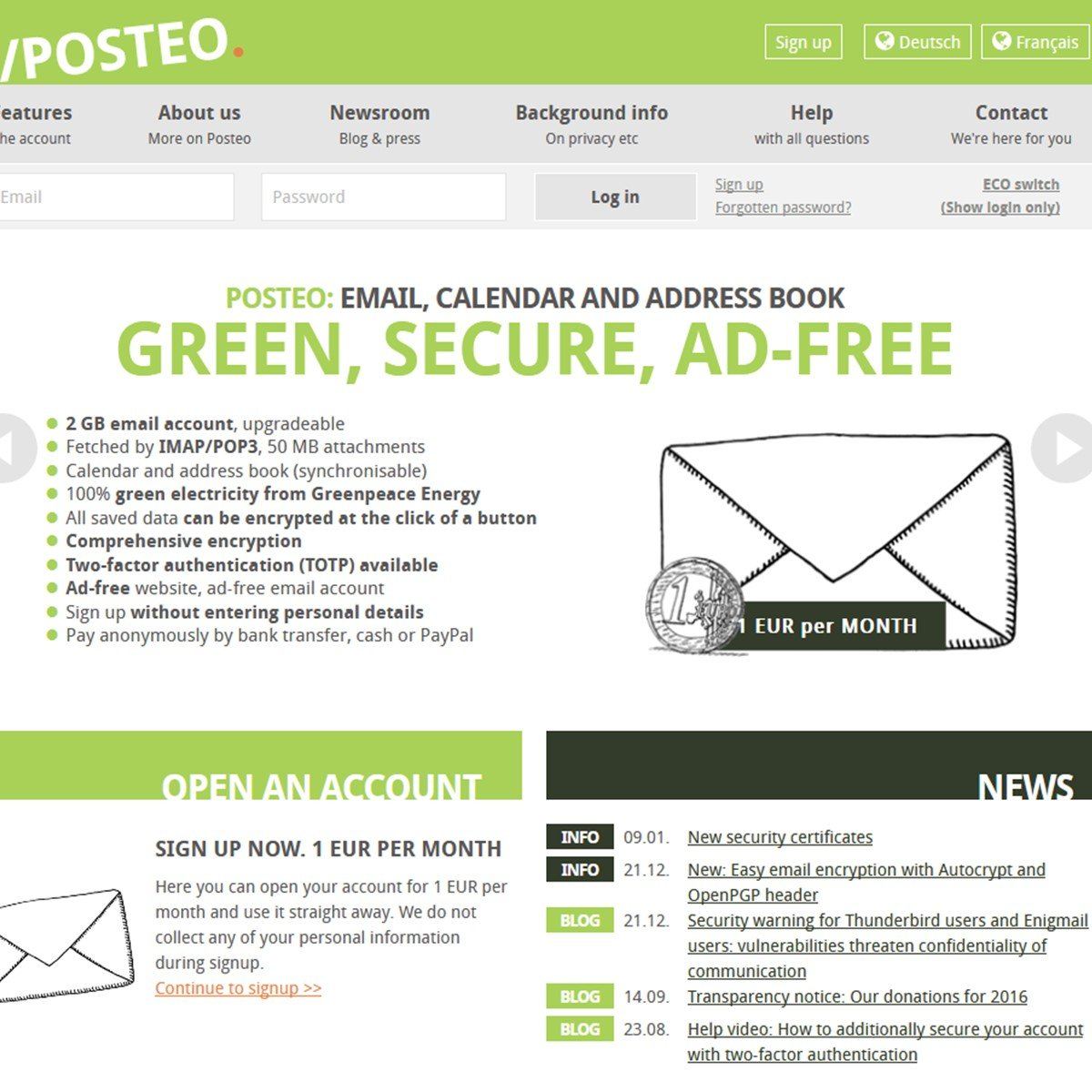 Posteo Alternatives and Similar Websites and Apps