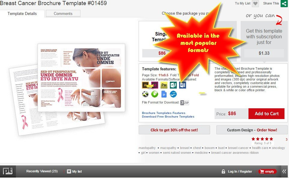 poweredtemplatecom brochure templates are avaiable in the most popular formats
