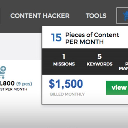 Outpace competitors by fulfilling your monthly content goals with our add to cart feature.We've automatically compared your competition to generate the best method to start hacking rank.