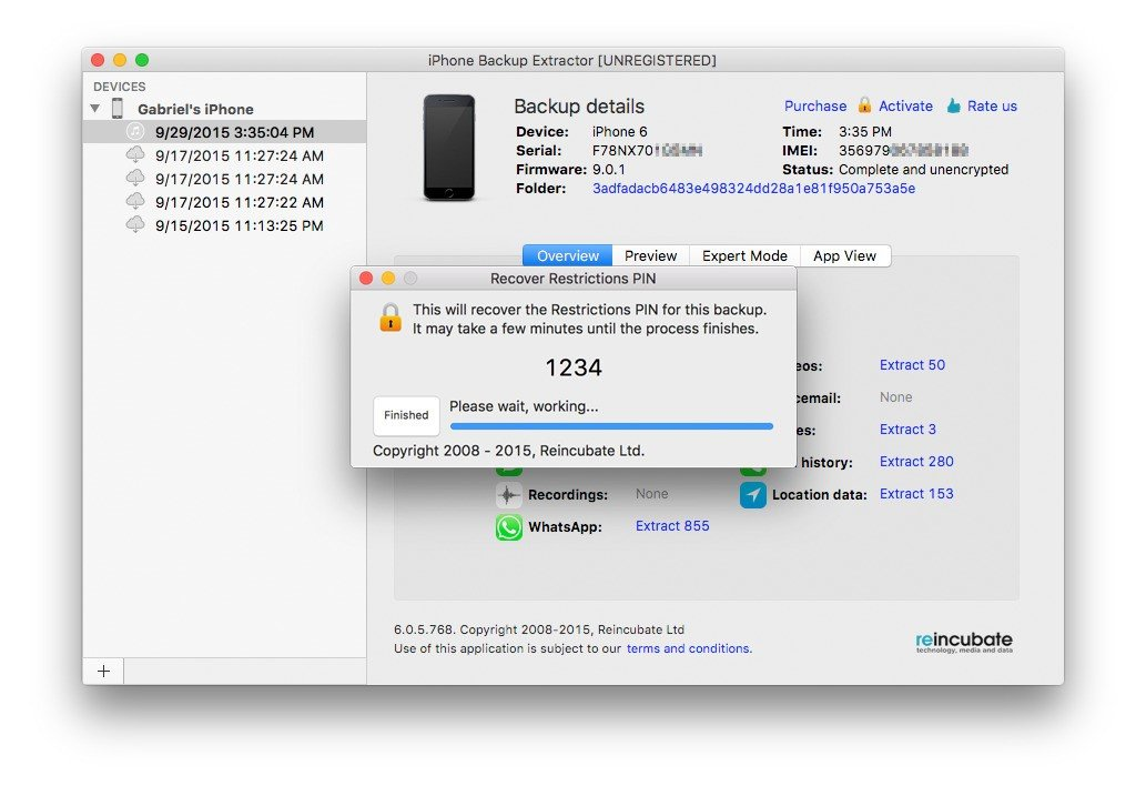 Reincubate iPhone Backup Extractor Alternatives and Similar