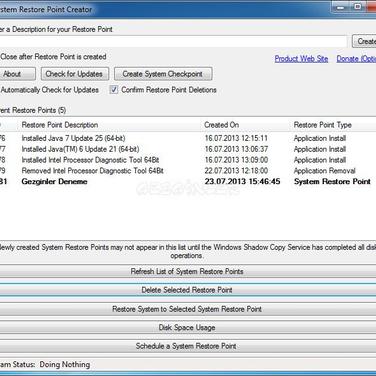 Restore Point Creator Alternatives and Similar Software