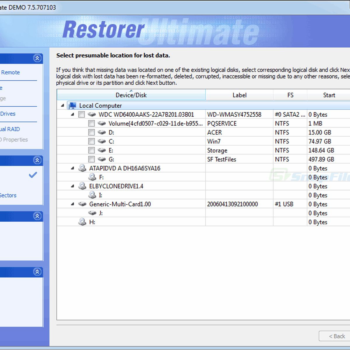 Restorer Ultimate Alternatives and Similar Software