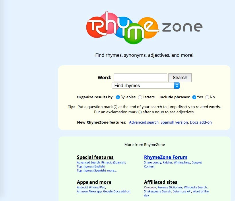 It's possible to update the information on Rhyme Zone or report it as discontinued, duplicated or spam.