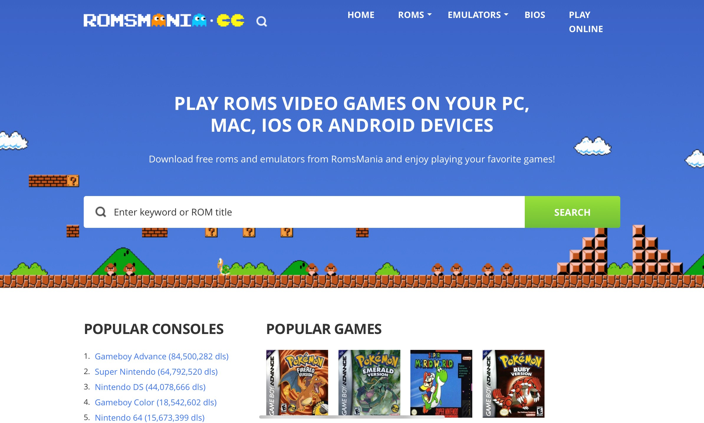 nds roms free download no registration