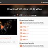 Download page, audio/video format selection