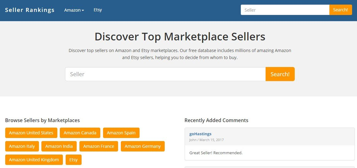 Seller Rankings Alternatives and Similar Websites and Apps