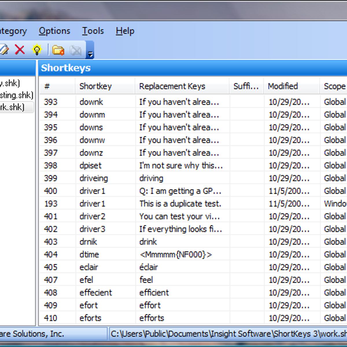 Shortkeys Alternatives And Similar Software