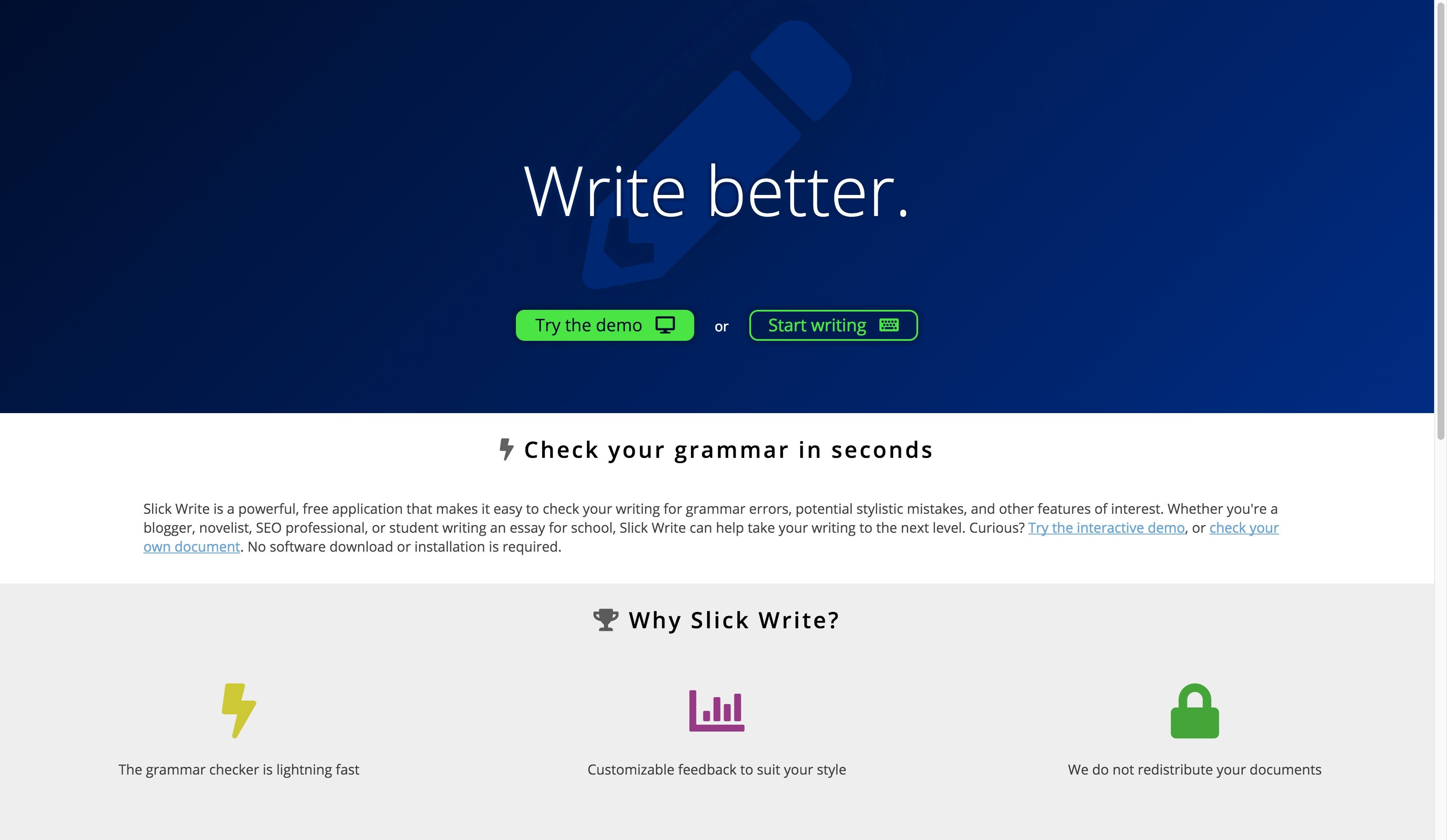 Slick Write Alternatives and Similar Software