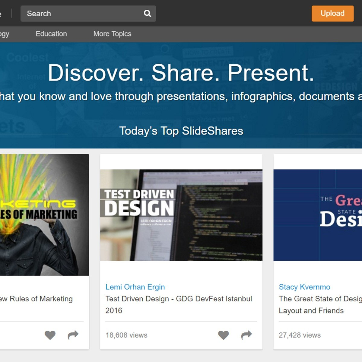 Linkedin slideshare alternatives and similar websites and apps alternativeto net