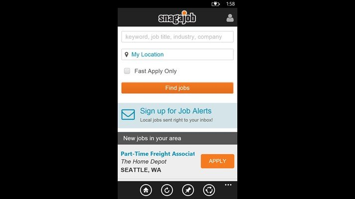 snagajob on windows phone3 - Local Jobs How To Find Local Jobs In My Area