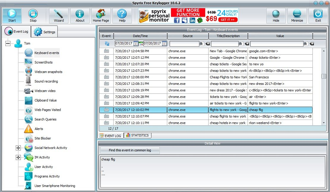 Spyrix Keylogger Free Alternatives and Similar Software