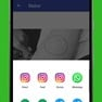 Share saved status on different Social media platform such as Facebook, hike, line, viber, wechat, telegram, sharechat, instagarm, twitter etc. icon