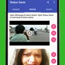 Download whtsapp status and play whatsapp status video in status saver app  icon