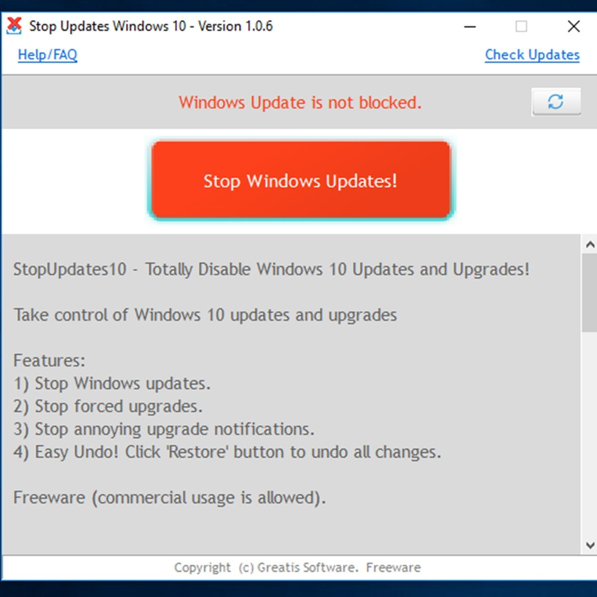 StopUpdates10 Alternatives and Similar Software