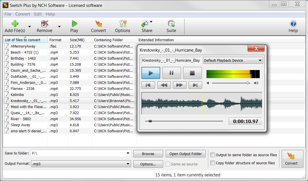 free switch sound converter software