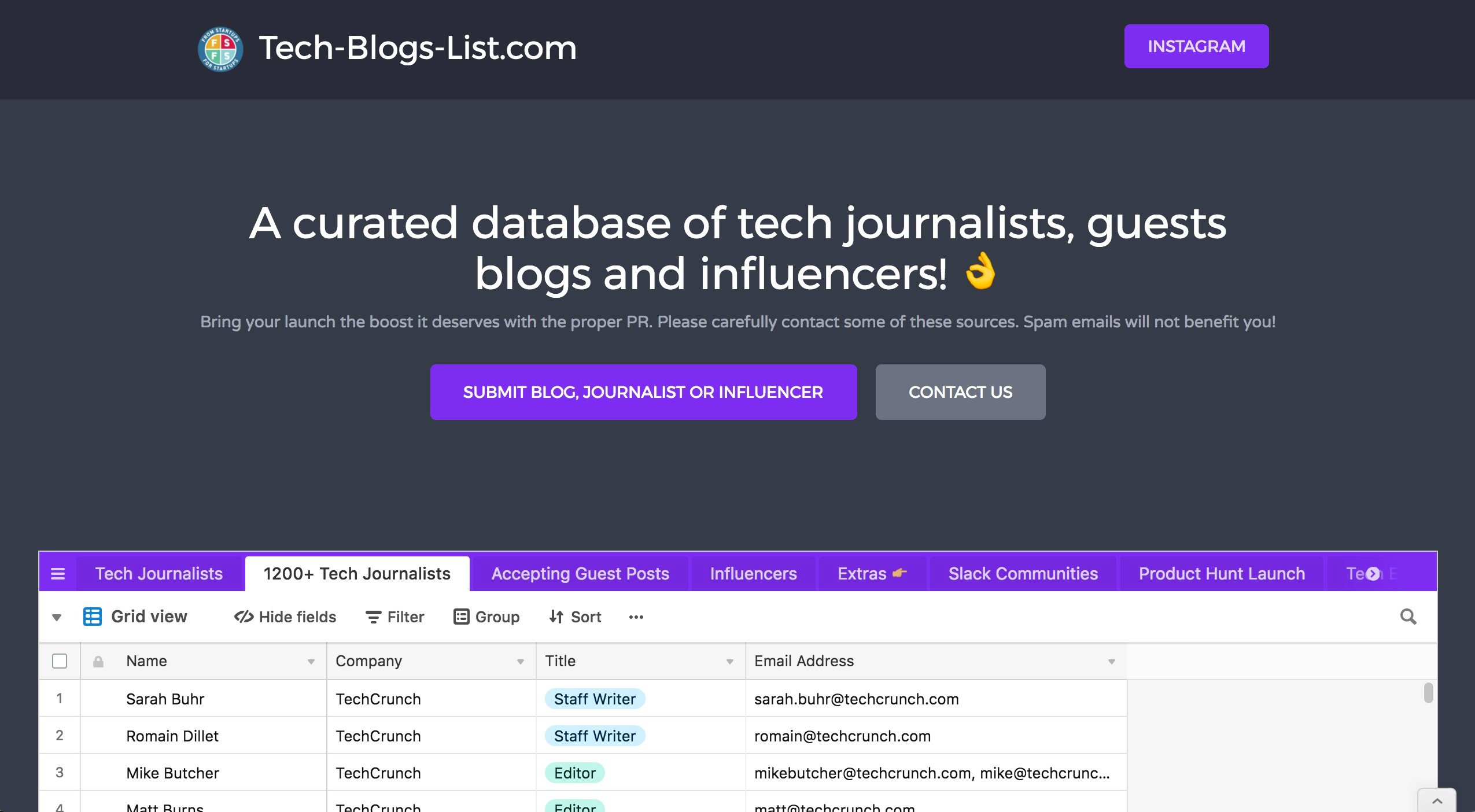 Tech-Blogs-List com Alternatives and Similar Websites and Apps