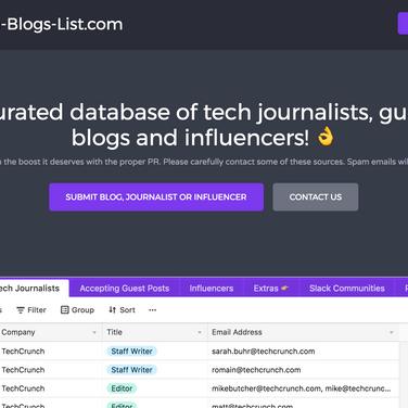 Tech-Blogs-List com Alternatives and Similar Websites and