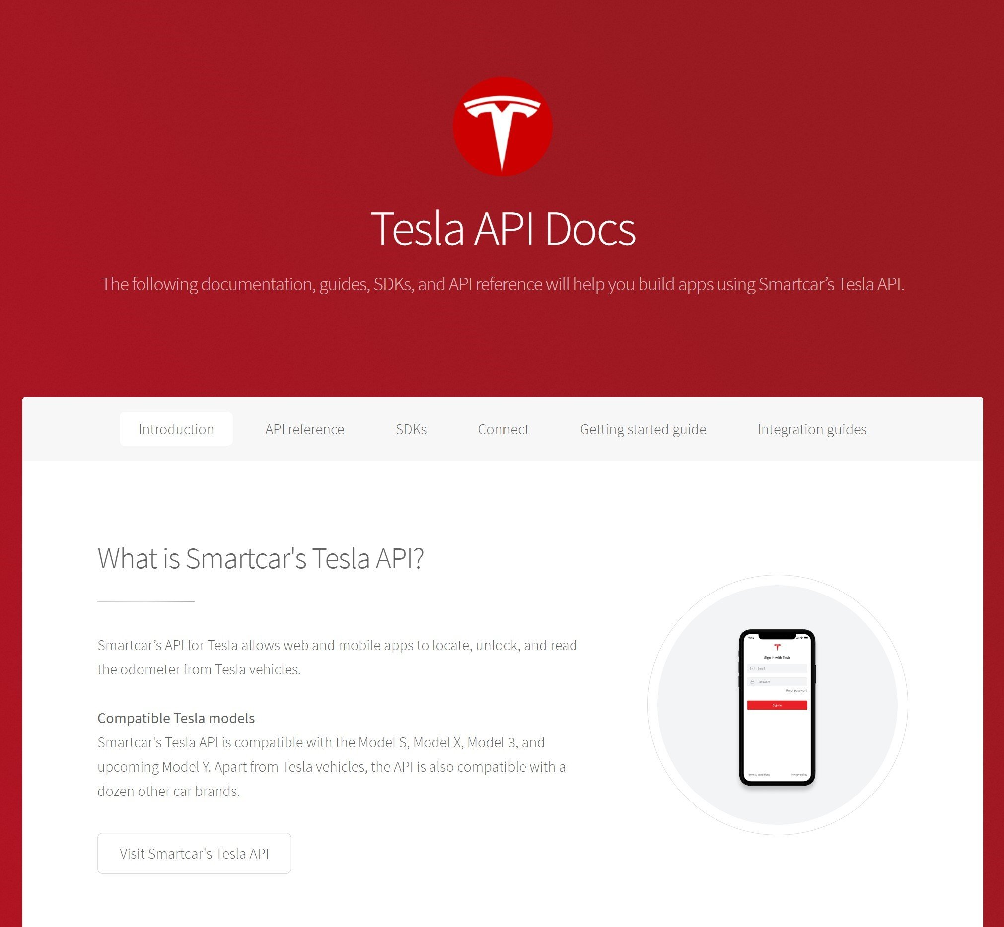 Tesla API Docs Alternatives and Similar Websites and Apps
