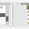 String completion icon