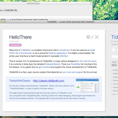 TiddlyDesktop Alternatives and Similar Software