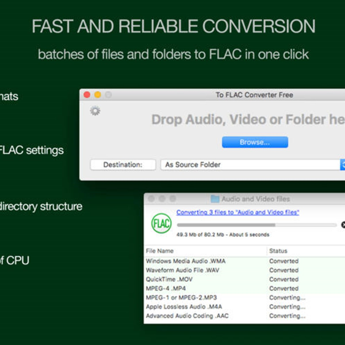 To FLAC Converter Free for Mac OS X Alternatives and Similar