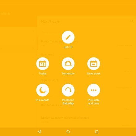 Android Tablet: scheduler
