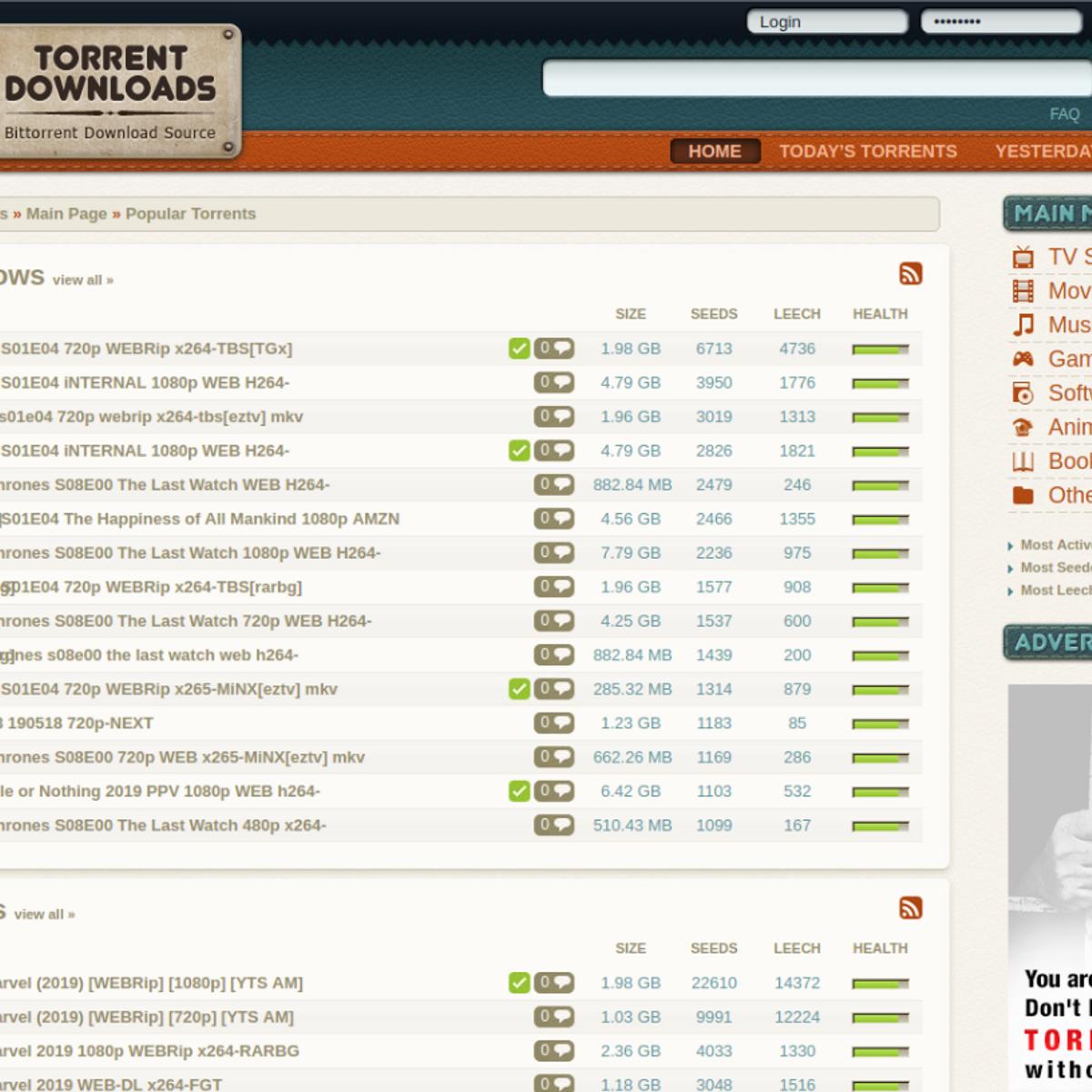 Torrent Downloads Alternatives and Similar Websites and Apps