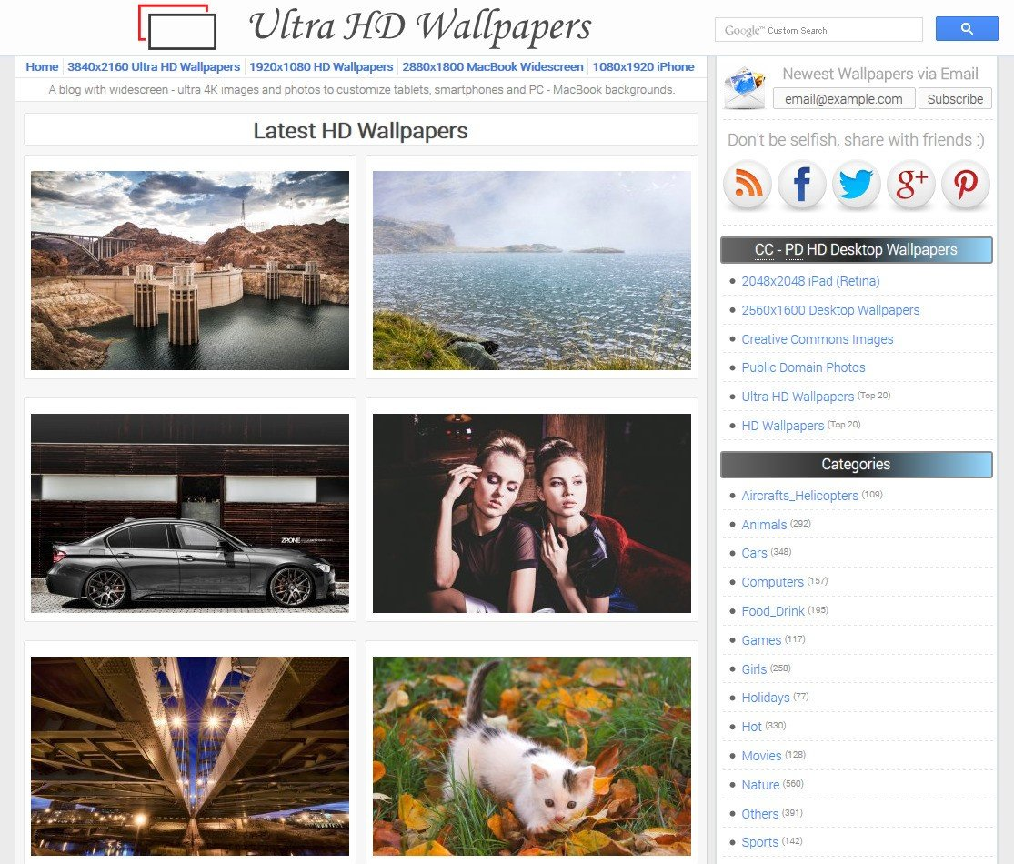 ultra hd wallpapers alternatives and similar websites and apps
