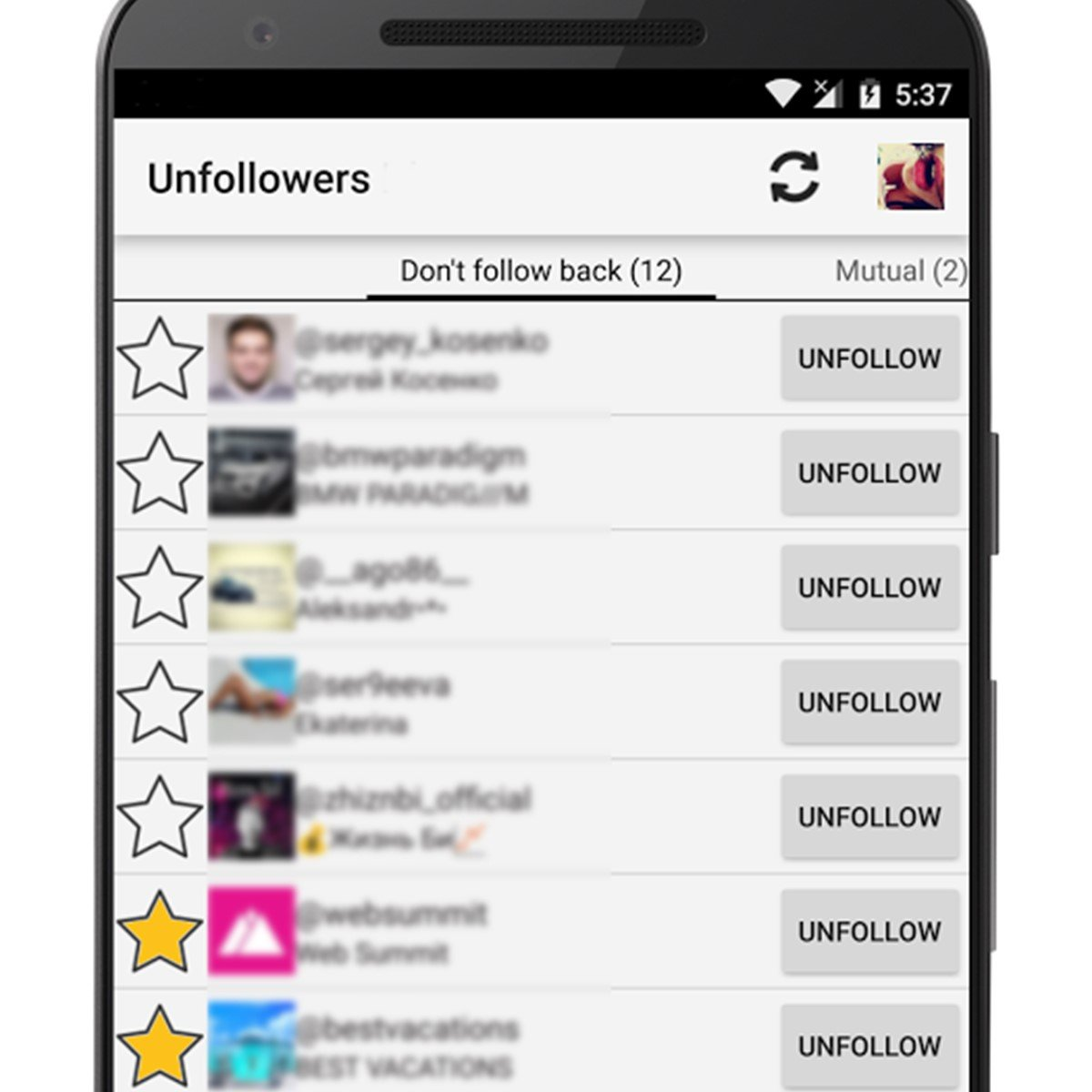 Unfollowers for Instagram Alternatives and Similar Apps
