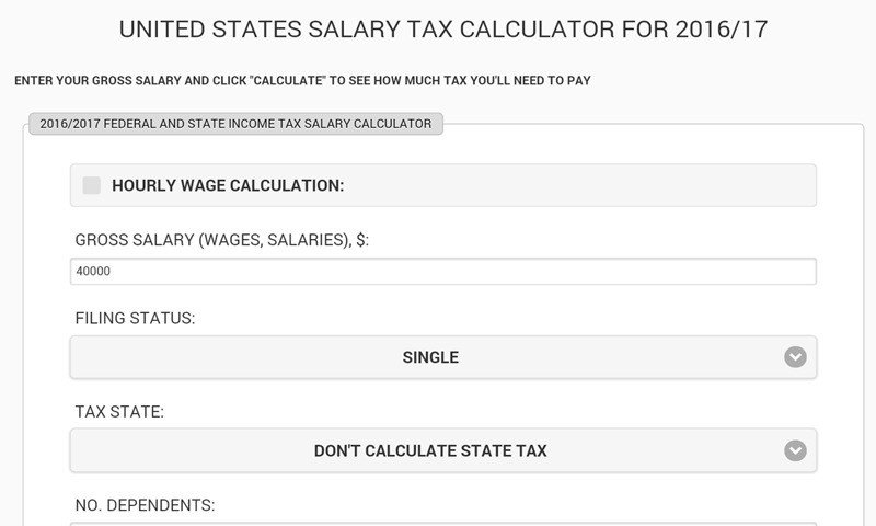 United States Salary Tax Calculator Alternatives and Similar