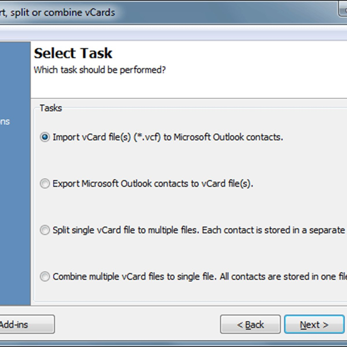 vCard Import-Export for Outlook Alternatives and Similar Software