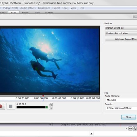 VideoPad - Video Editor - Importing Audio Narration
