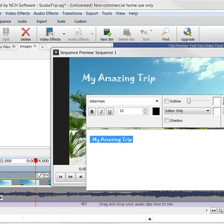VideoPad - Video Editor - Sequencing Clips