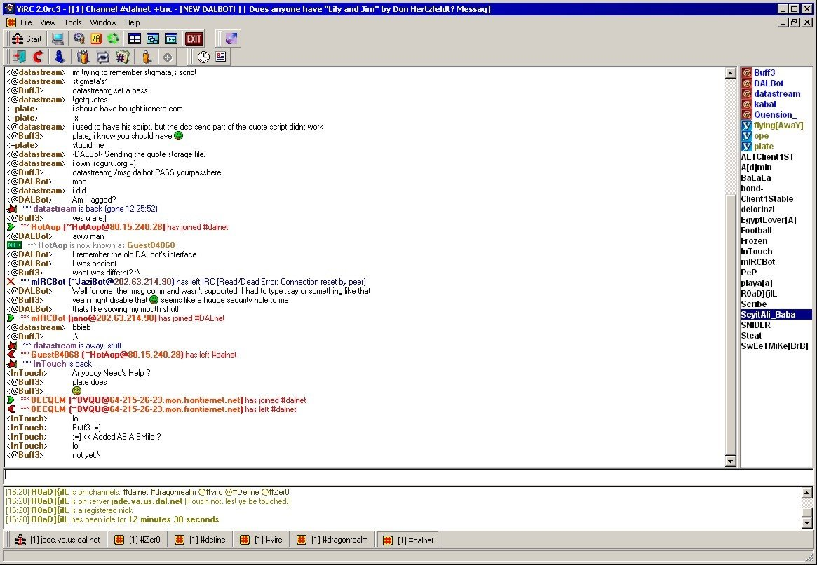 mIRC: Internet Relay Chat client