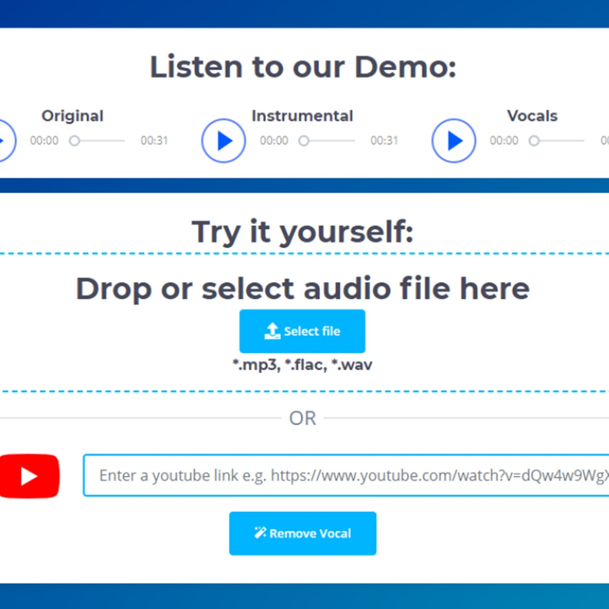 VocalRemover Alternatives and Similar Websites and Apps