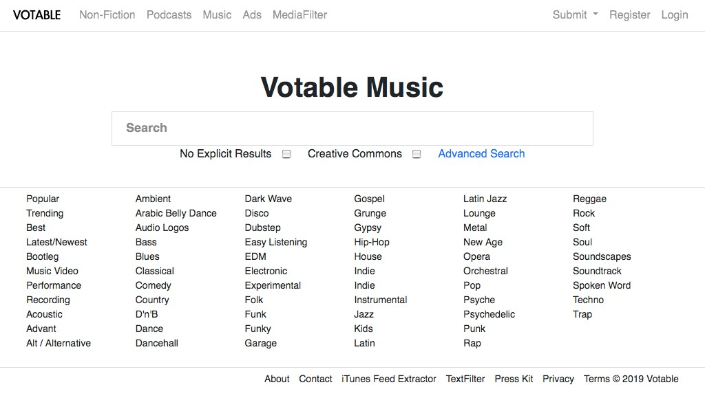 Votable Music Alternatives and Similar Websites and Apps