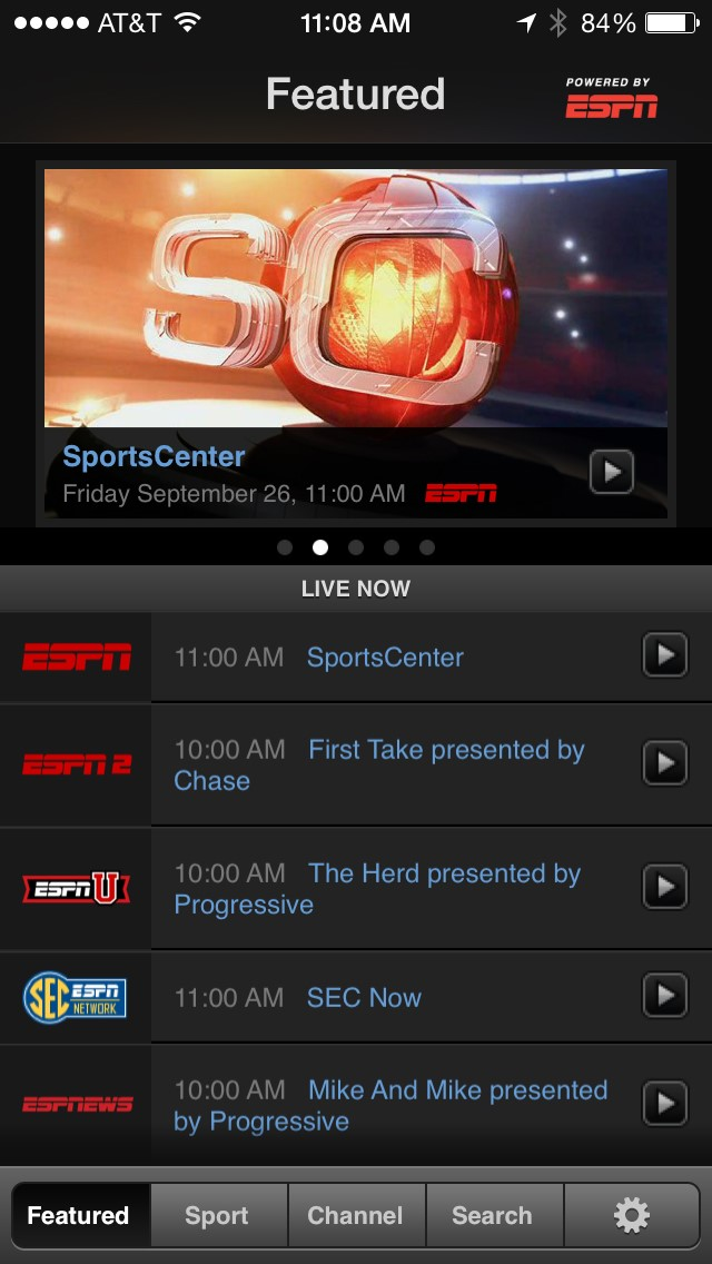 how to watch live sports on ipad 2 for free