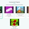 Some community projects on the community page. icon