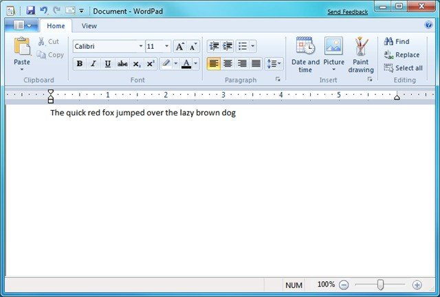 how to make a checklist in wordpad