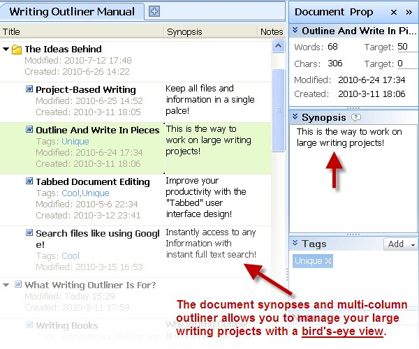 creative writing outliner software Writing outliner is an outliner that's seamlessly integrated with ms word the most important concept of writing outliner is project-based writing a project in writing outliner is a long or complex text that you might work on for days, weeks, or even months, for example, a book (novel, or non.