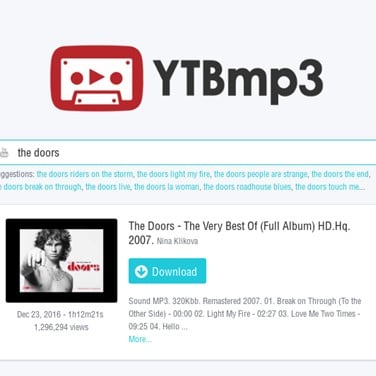 YouTube to MP3 Converter - YTBmp3 Alternatives and Similar Software