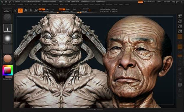Painting From An Image Zbrush